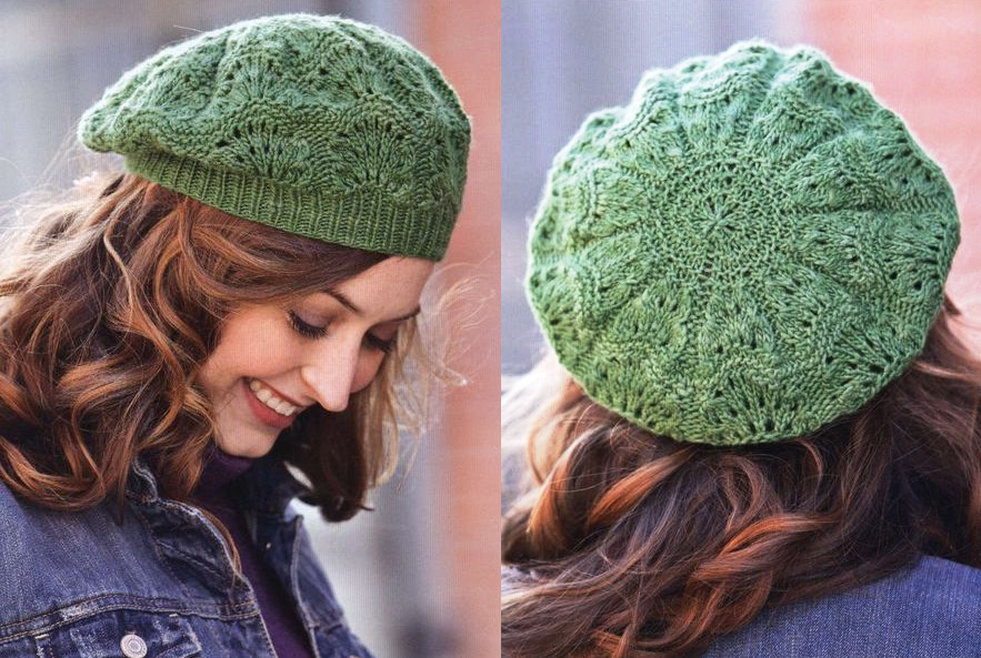 Free Knitted Flowers Patterns : Knitting a beautiful beret
