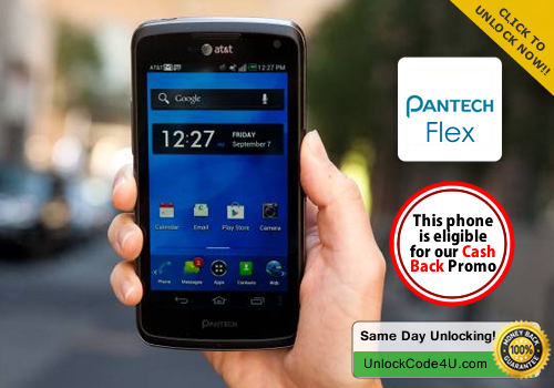 Factory Unlock Code for Pantech Flex P8010