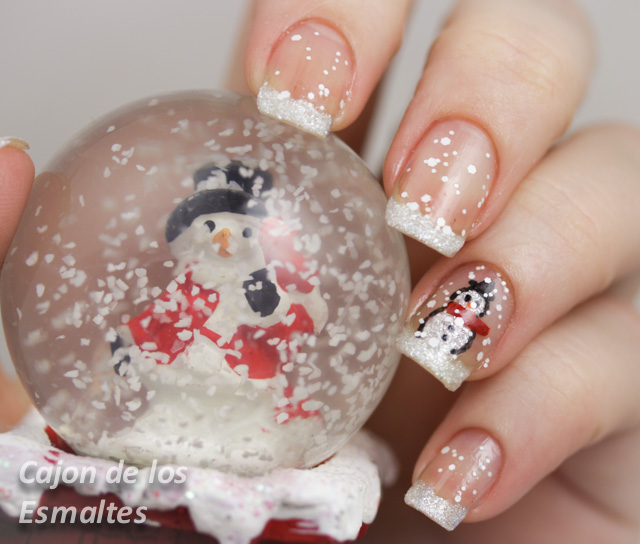 Nails decorated - Christmas nail design and simple step by step | Cajon of the enamels