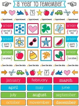 SRM Stickers Blog - Teacher Planner by Angi - #planner #teacher #september #quickcard #stickers #calendarcompanion #stickerstitches