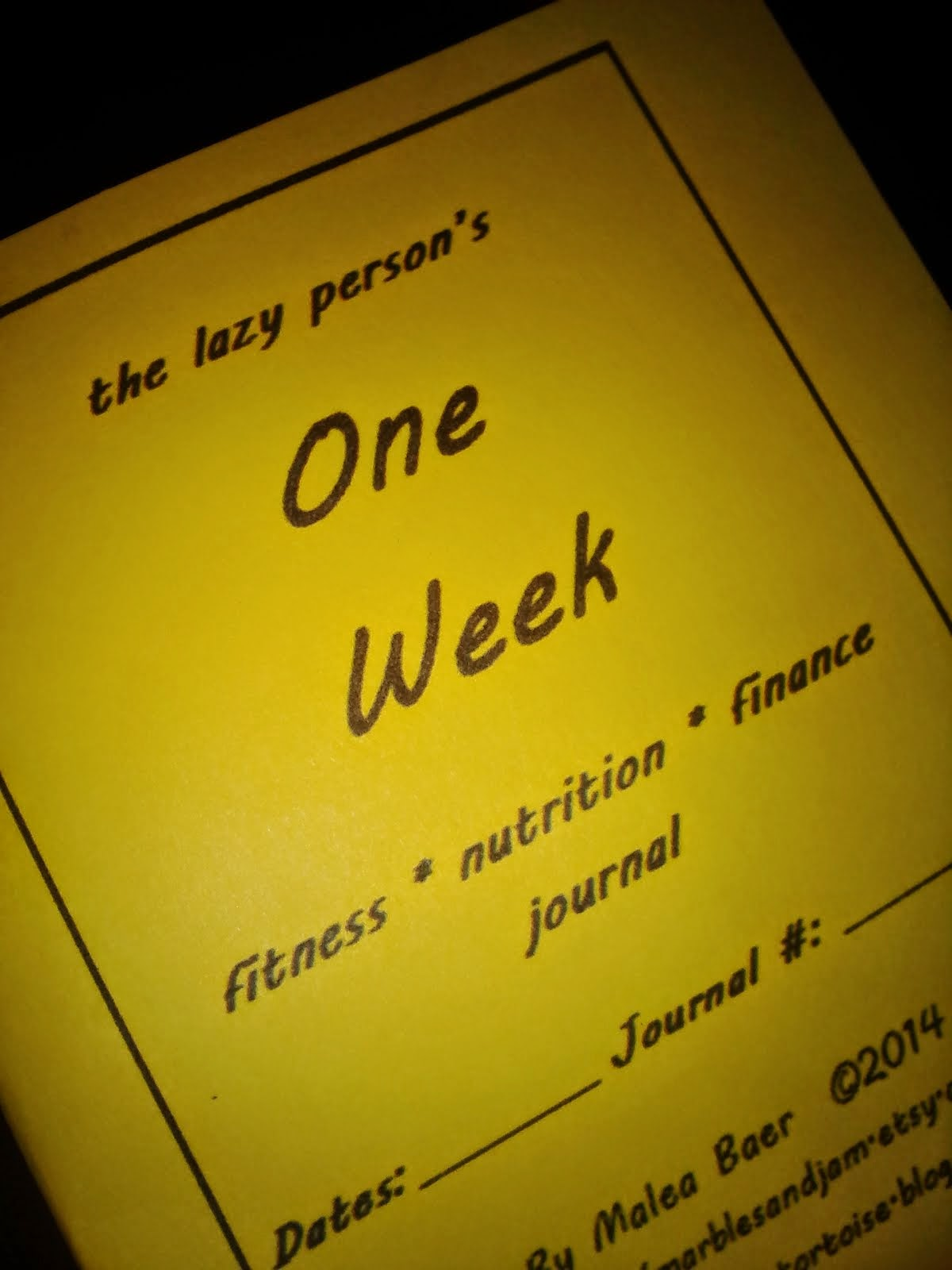 Purchase a fitness, nutrition, and finance journal