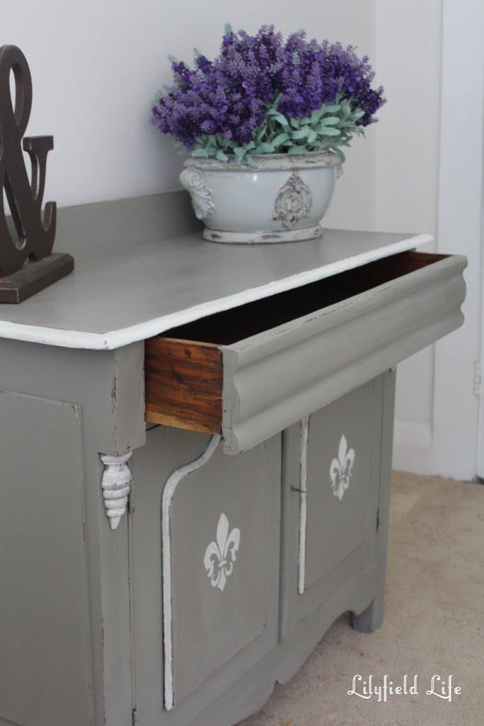 lilyfield life rustic little fleur de lis cabinet makeover. Black Bedroom Furniture Sets. Home Design Ideas