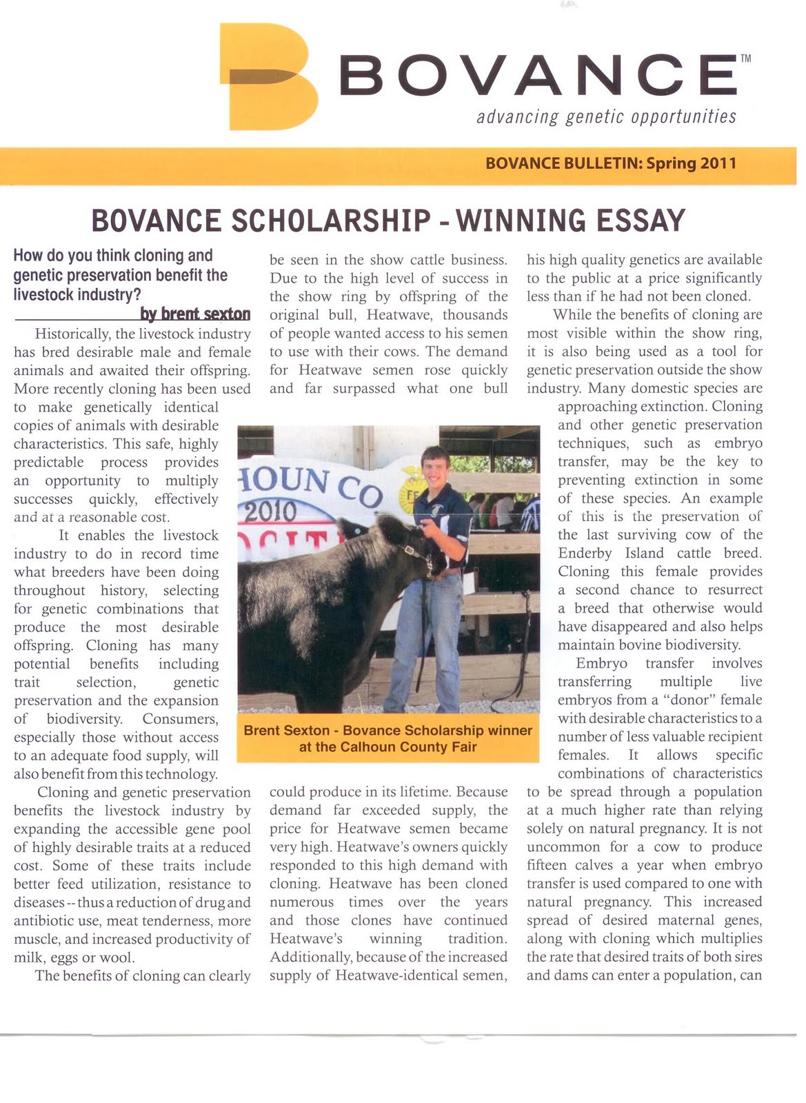 Essays About English Language Brent Sextons Bovance Scholarship Essay We Enjoyed Reading His Take On  Heatwave Clones Thanks Brent Essay About Business also Business Management Essays Brent Sextons Bovance Scholarship Essay We Enjoyed Reading His  Extended Essay Topics English