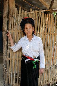 A Cống ethnic woman in Mường Tè