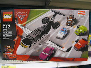 LEGO Spy Jet Escape Disney Cars