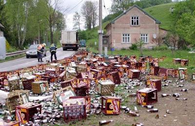 cerveja acidente