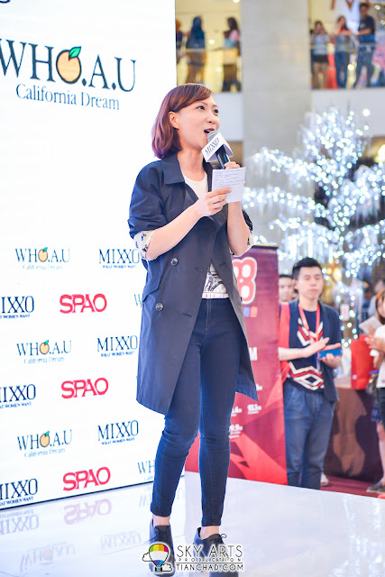 988 DJ Min 皓敏 was the emcee during SPAO Malaysia Launch