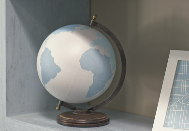 Painted Globe via Jenna Sue Design, featured at Spool and Spoon