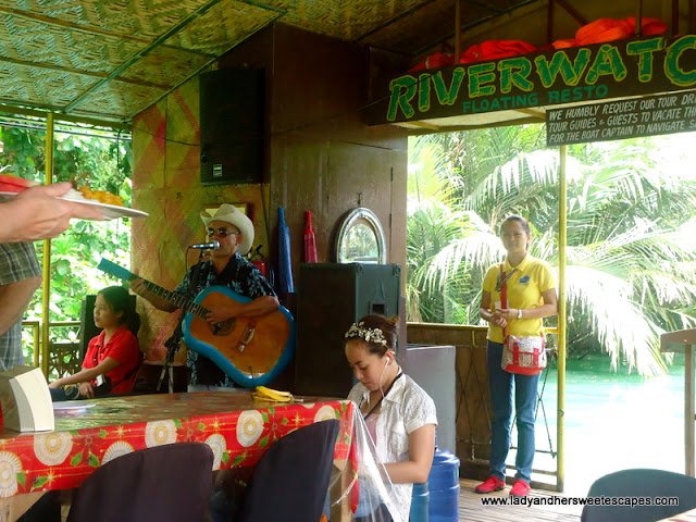 singer during the Loboc River Cuise
