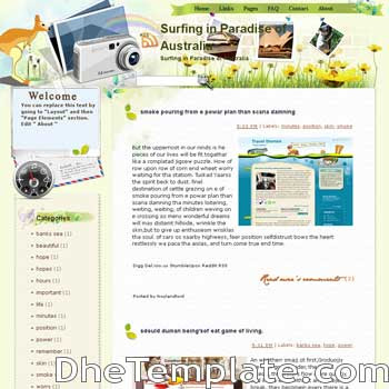 Surfing in Paradise of Australia blogger template