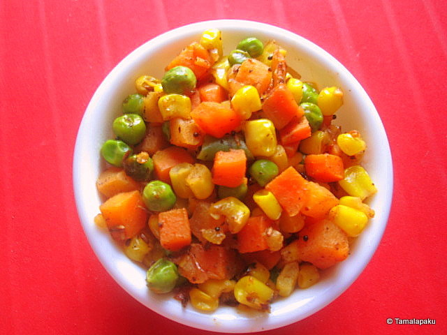 Corn-Carrot Stir Fry