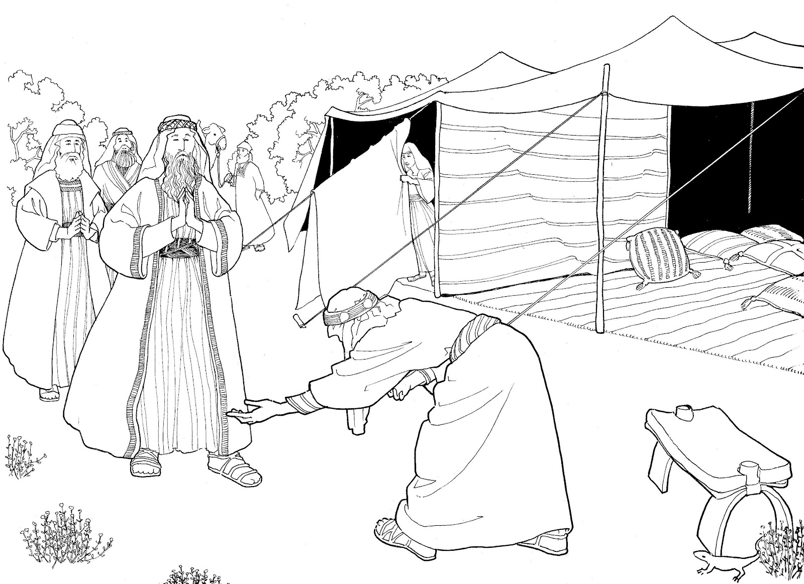 abrahams tent craft  read the story of abraham and the 3