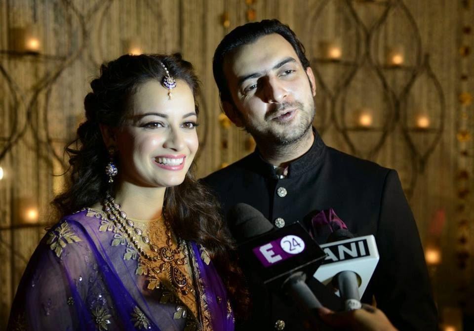 Engagement Photos of Dia Mirza and Sahil Sangha