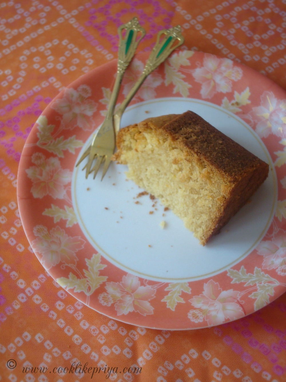 Vegan Orange snack cake