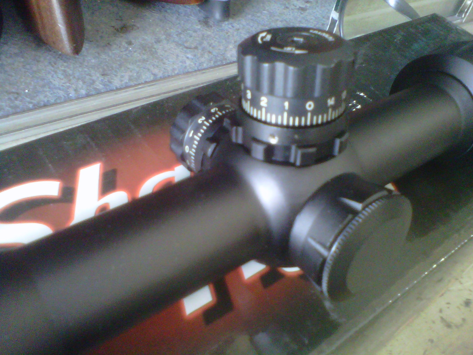 Guns and hobbies: telescope sharp tiger 3 9 x 42e with laser pointer