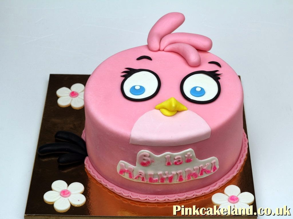 Pink Angry Bird Cake, London