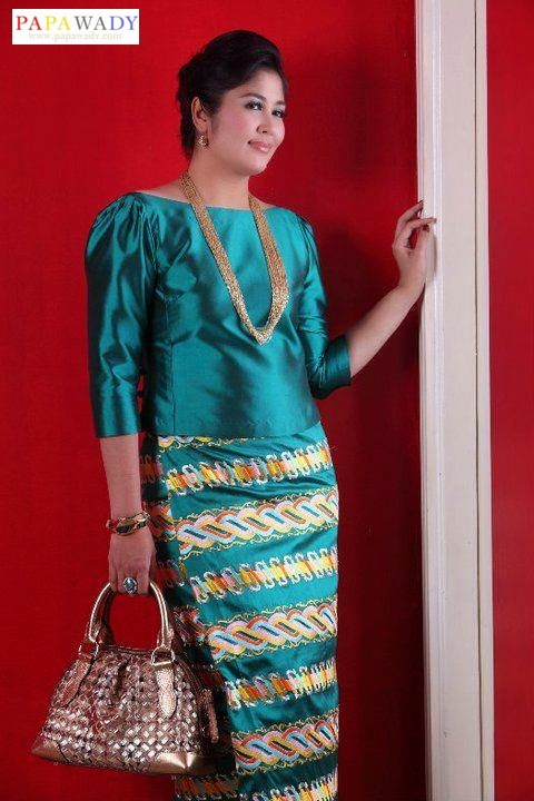 1000  images about Myanmar Dress on Pinterest | Dress skirt, Blue ...