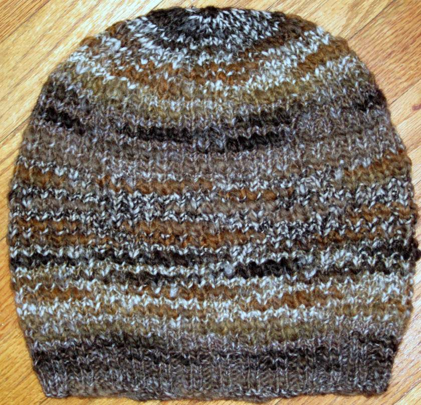 Textured Slouchy Hat - Free Knitting Pattern