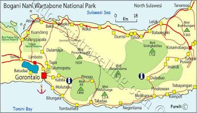 Peta Lokasi Taman Nasional Bogani Nani Wartabone