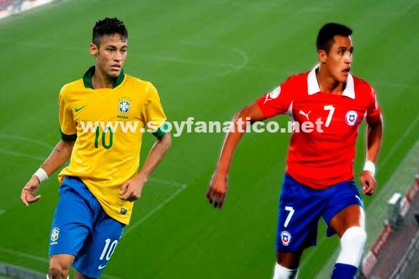 Chile vs Brasil por los Octavos del Mundial 2014