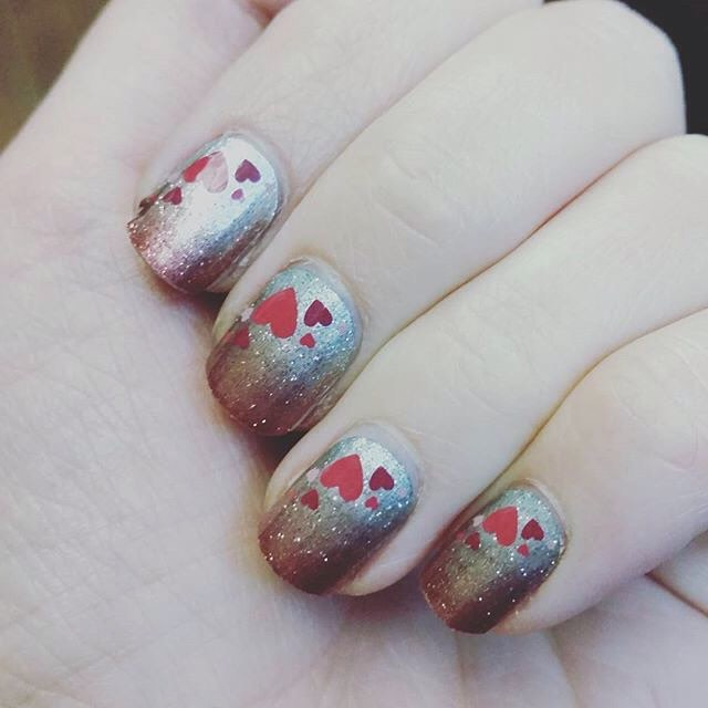 cuori nail art san valentino