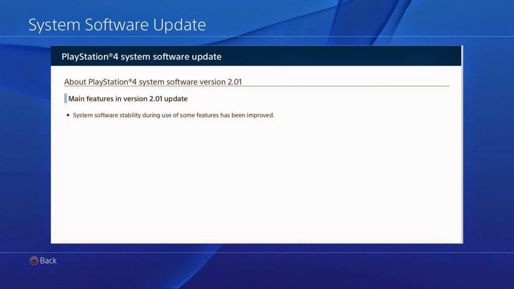 تحديث PS4 2.01 الجديد