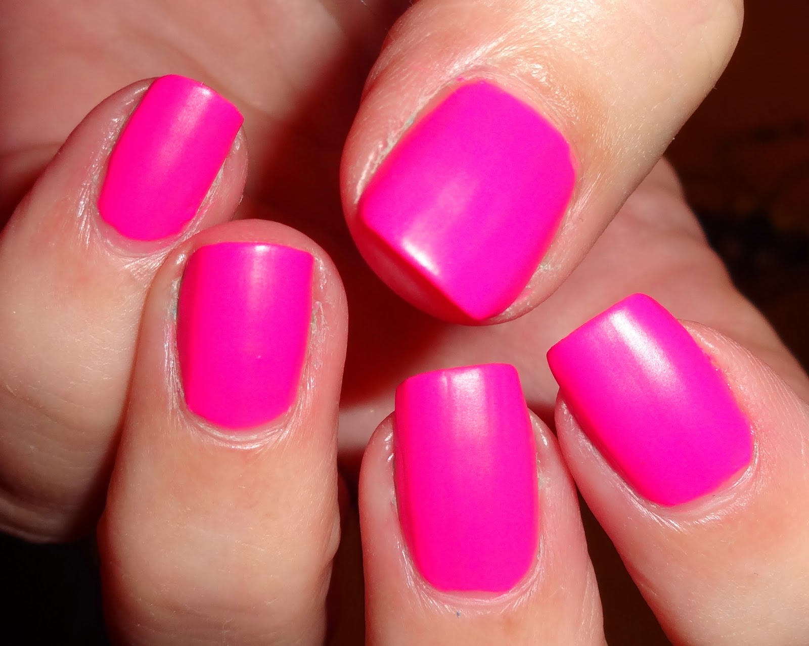 Matte Nail Polish Hot Pink | Splendid Wedding Company