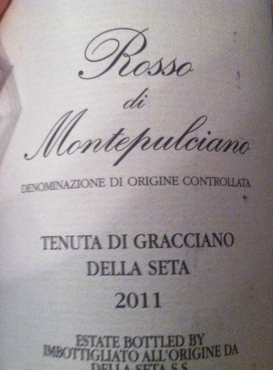 2011 Tenuta di Gracciano della Seta Rosso di Montepulciano, Cooking Chat recommended #wine.