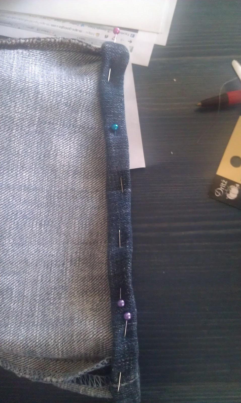 how to make jeans hem look original