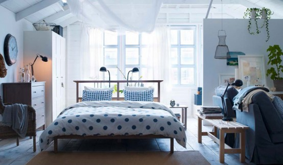 This design IKEA bedroom  is equipped with simple furnishings  But to make  the drawing style and a comfortable bedroom. Modern IKEA 2012 Home Decorating Ideas   Enter your blog name here