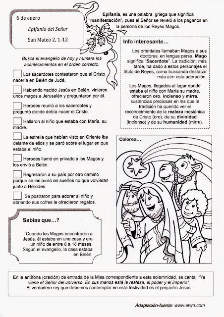 PASATIEMPOS Y CRUCIGRAMAS: Epifania de Jesús-6 de Enero