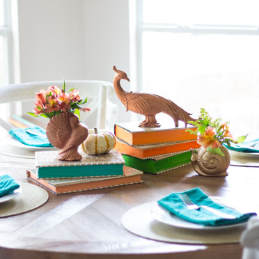 5 festive fall table ideas from the thrift store!