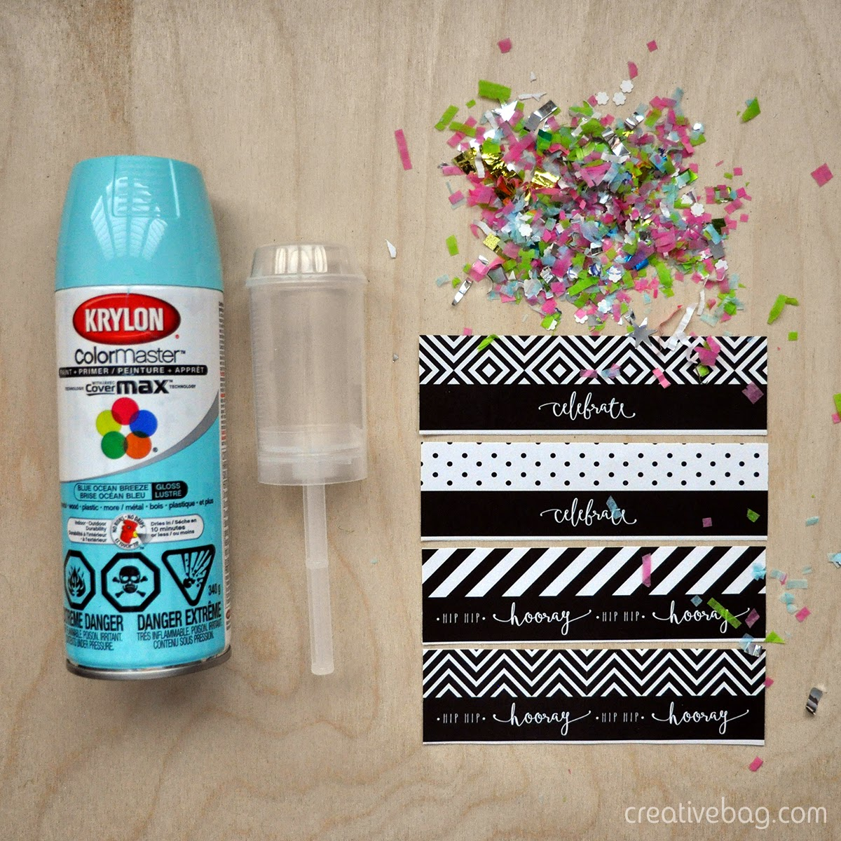diy confetti poppers and make your own confetti | Creative Bag