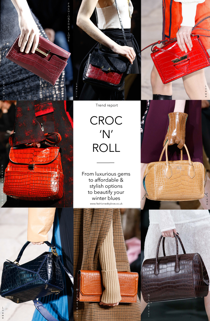 Fall/Winter 2015 accessories trend report / best bags to buy / crocodile bags on a runway at Lanvin, Diane von Furstenberg, Proenza Schouler, Jason Wu, Loewe, Christian Dior, Giambattista Valli, Alexander McQueen, Dolce & Gabbana, Michael Kors, Hermes, Prada & Nina Ricci Fall/Winter 2015 via fashionedbylove.co.uk british fashion blog