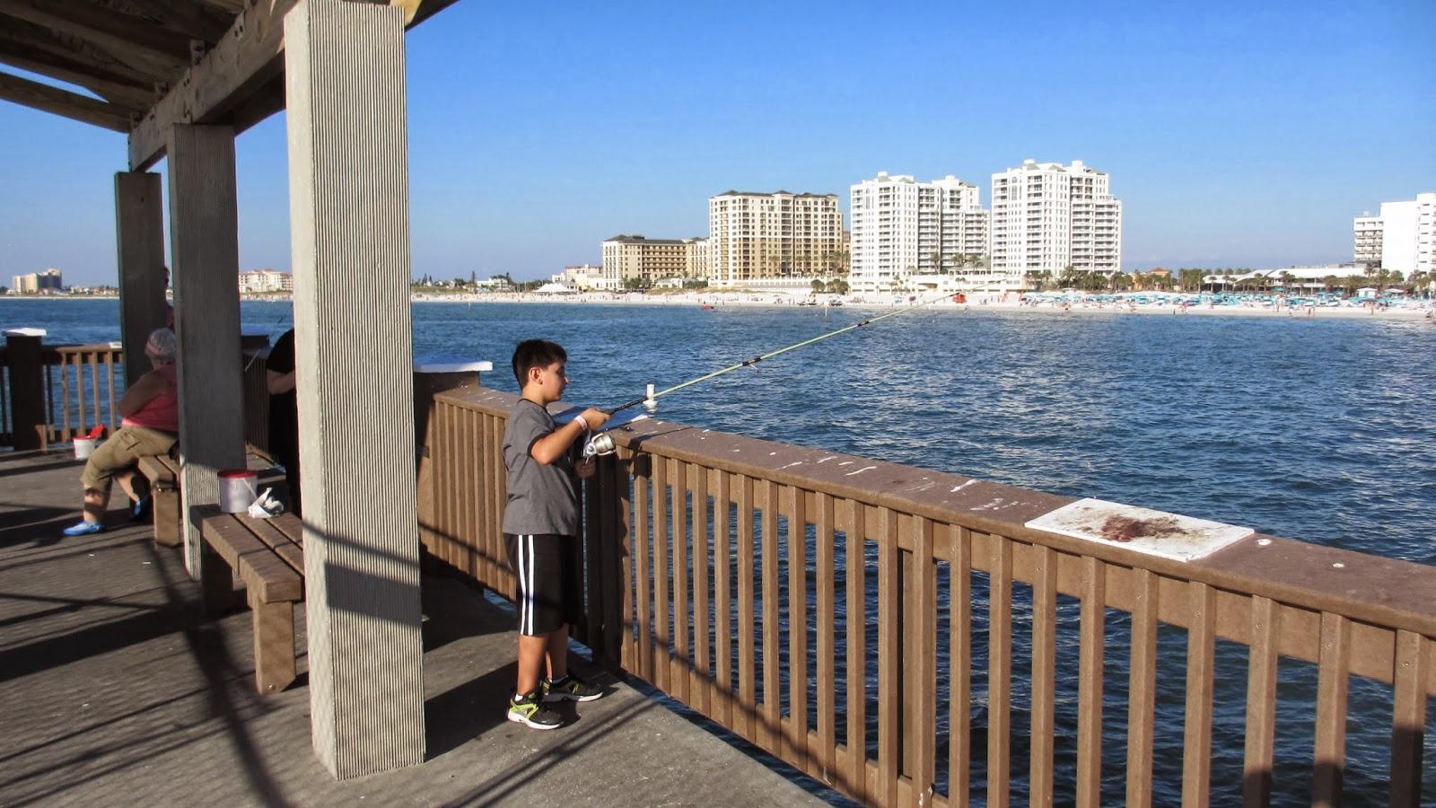 Josh goes fishing fishing on pier 60 at clearwater for Clearwater fishing pier
