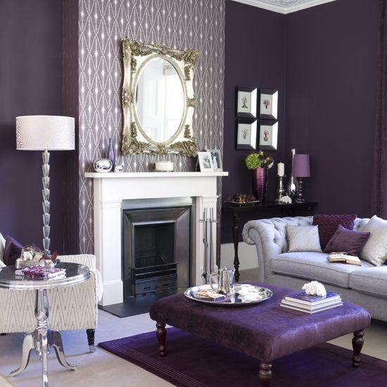 7 fotos de salas moradas un color moderno para tu sal n - Comedores decorados modernos ...