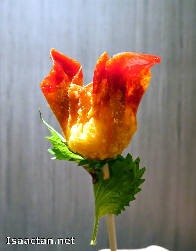 It does look like a rose, an edible one