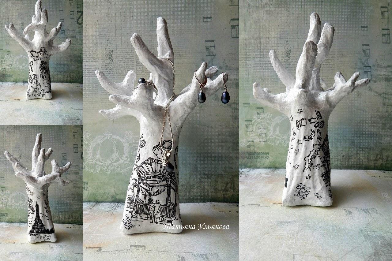 подставка для украшений своими руками, автор Ульянова Татьяна