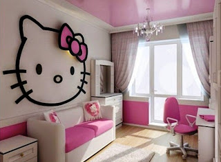 Dekorasi kamar anak hello kitty