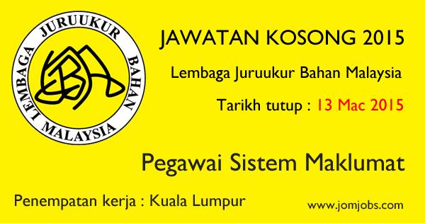 Jawatan Kosong Lembaga Juruukur Bahan Malaysia Terkini