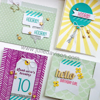 Stampin' Up! VIDEO: Last Chance: Hooray It's Your Day Card Kit - Makes 20 Cards! www.juliedavison.com