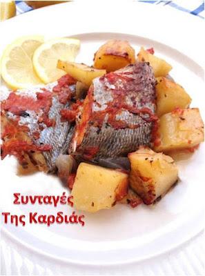 Ψάρια με ταμπάσκο στον φούρνο