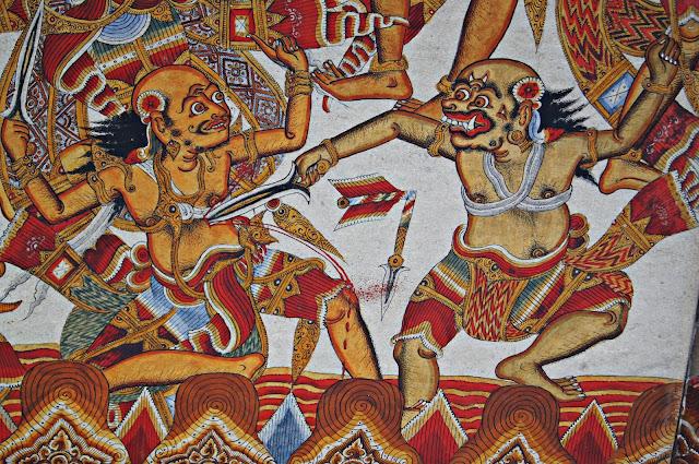 Pinturas Kamasan en Kertha Gosa