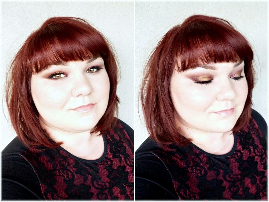 eye make up red bronze