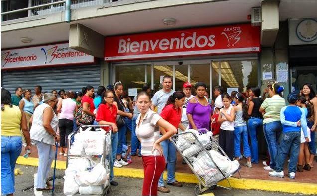 NO HAY DE NA' es caos los supermercados de Venezuela