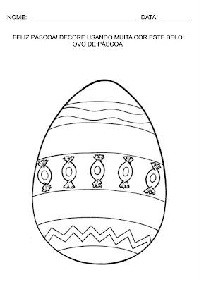 Atividades Infantis - Ovo de Páscoa para ser decorado