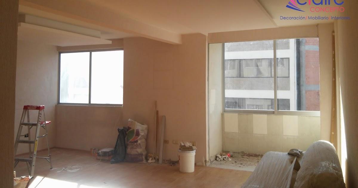 Dise o de departamentos peque os mobiliario plafones de for Diseno y decoracion de interiores