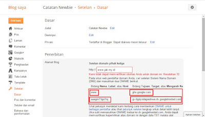 Cara Setting Custom Domain Blogspot dengan DNS Afraid
