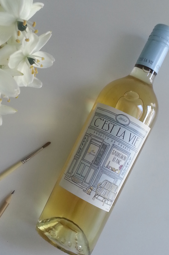 C'est La Vie wine label