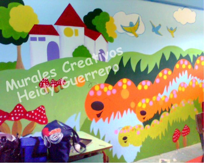 Murales creativos heidy guerrero decoracion centro de for Mural una familia chicana
